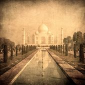 Vintage Image Of Taj Mahal, Agra, India