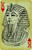 pic of pharaohs  - Playing card with the drawn figure - JPG