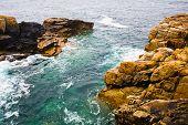 Cliffs On English Channel Coast In Brittan