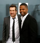 NEW YORK-JUNE 10: Singer Joey Fatone (L) and TV personality A. J. Calloway attend the world premiere