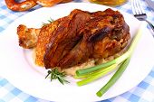 Grilled Pork With Whitish, Pretzels And Beer
