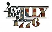 Forth Of July 1776 Lettering Cut-out