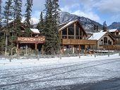 Cabins at the ski lodge