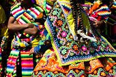 stock photo of parade  - Peruvian dancers at the parade in Cusco - JPG