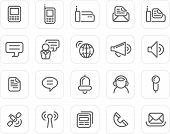 Plain Icon Set: Communication