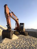 Dredge the sand from the beach - clean urban public