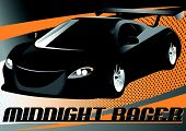 picture of dragster  - Vector illustration of a black sports car - JPG