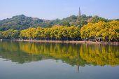 Landscape of West lake. Hangzhou. China.