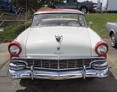 1956 White And Red Ford Victoria Fairlane