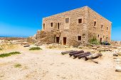 Ruins Of Old Town In Rethymno, Crete, Greece. It Largest Castle In Central Europe