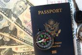 Passport Cash Compass Boarding Pass and Keys