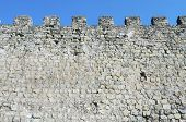 stock photo of fortified wall  - fortified castle  wall Siguenza - JPG
