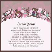 Cosmetics Background.