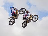 Jumping With A Motorcycle Trial