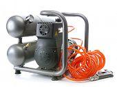 Portable air compressor shot on white