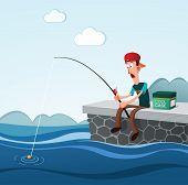 fishing in the dock