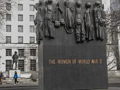 London, Uk - March 30, 2006: The Monuments To The Women Of World War Ii And Field Marshal Alan Franc