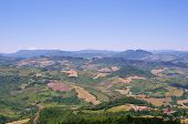 Landscape Of Italy. View From Mountain Monte Titano, San Marino