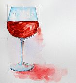 Wine Glass Painting With Watercolor