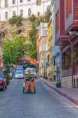 Istanbul old street traffic