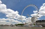 LONDON, UK - JUNE 12, 2014: London Eye, diameter of 120 meters and height of 135 meters, it is the h