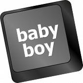 Baby Boy Message On Keyboard Enter Key