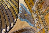 Painted ceiling in Hagia Sophia Istanbul