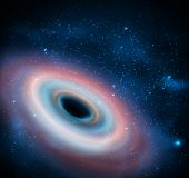 picture of hydrogen  - Black hole in universe - JPG
