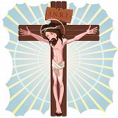 picture of inri  - Illustration Of Jesus Crucified On The Cross - JPG