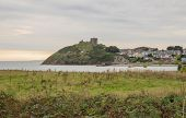 picture of anglesey  - Criccieth Castle in North Wales on the Anglesey peninsula dates from the 13th century - JPG