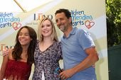 LOS ANGELES - JUN 14:  Grant Heslov, daughters at the Children Mending Hearts 6th Annual Fundraiser