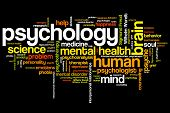stock photo of psychological  - Psychology issues and concepts word cloud illustration - JPG