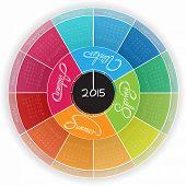 Round Calendar Design 2015