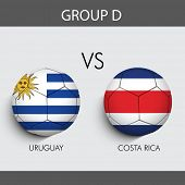Group D Match Uruguay v/s Costa Rica countries flags