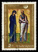 Icon Saint Virgin And John The Evangelist