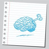 Brain with key