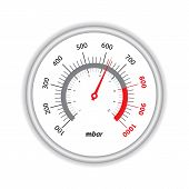 pic of manometer  - manometer on white background for industrial websites - JPG