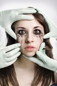 Girl Having A Plastic Surgery