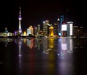 Veiw From The Bund, Shanghai At Night