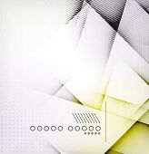 Geometric diamond shape abstract background - hi-tech corporate blank design template