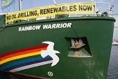 VALENCIA, SPAIN - JUNE 10, 2014: Greenpeace's vessel the