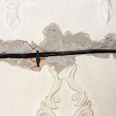 Gypsum tracery background ant texture.