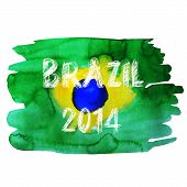 Brazil Summer .Vector Water Color Background