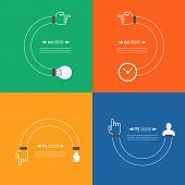 Set of Infographics showing the creative process