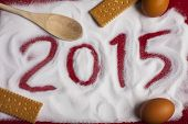 2015 Christmas and New Year Greetings card with copy space