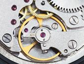 Steel Mechanical Clockwork Of Retro Watch