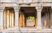 Sandstone columns at Hauz Khas, Delhi, India