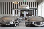 foto of buffet lunch  - a shot of an buffet area with nobody - JPG