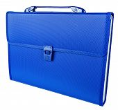 Blue Briefcase Isolated On White Background