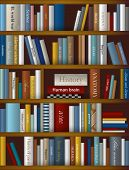 Books background. Realistic vector illustration.